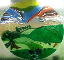 fused glass panel